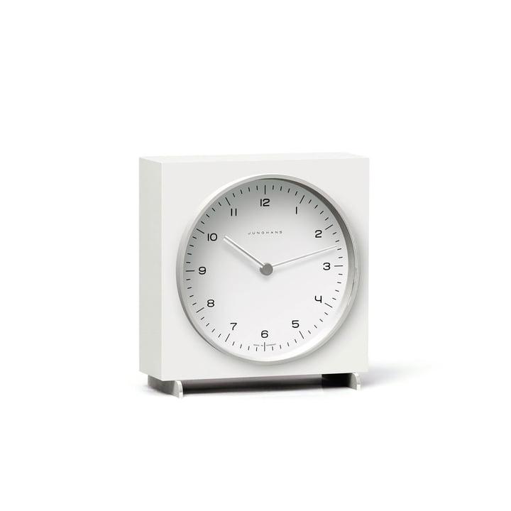 Horloge de table quartz Max Bill par Junghans en blanc
