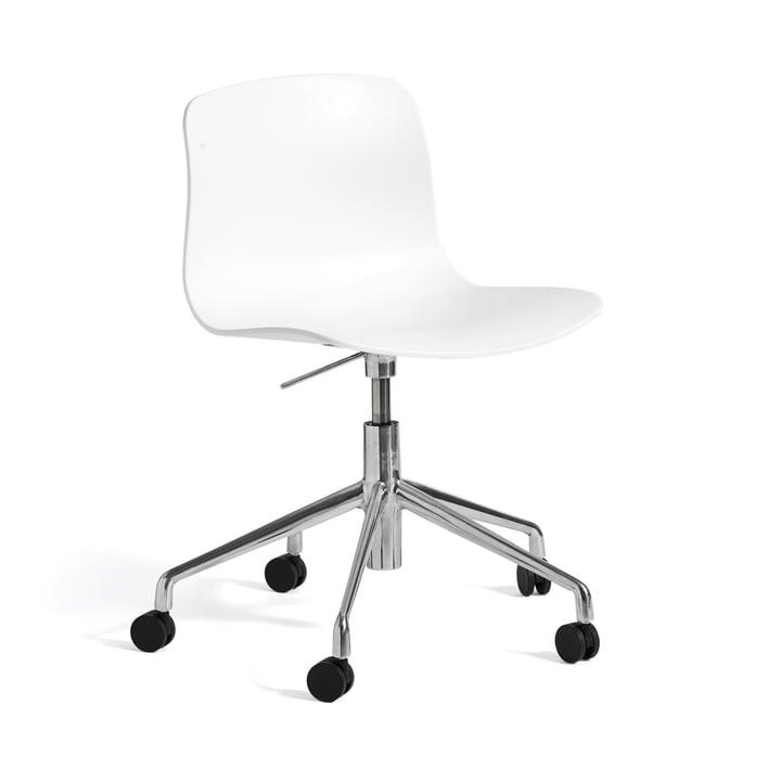 Hay - About A Chair AAC 50 avec vérin à gaz, poli/blanc