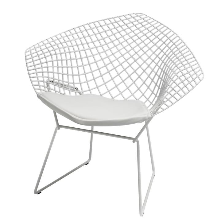 catalogue libre : Knoll - Bertoia Diamond fauteuil, blanc
