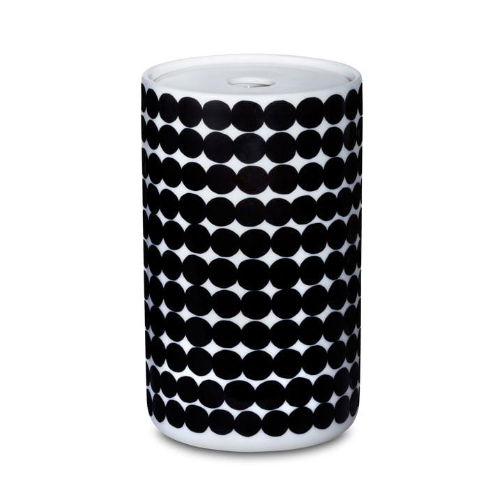 Le bocal Oiva Siirtolapuutarha dans la taille 1300 ml en blanc/noir