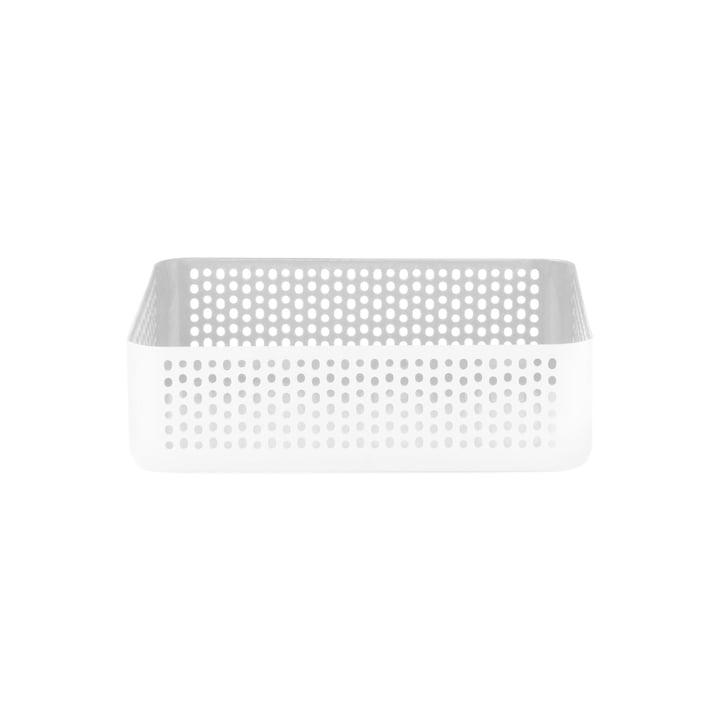Boîte de rangement Nic Nac 22,5x22,5cm de Normann Copenhagen en blanc