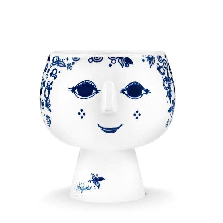 Cache-pot avec pied Juliane Ø 11 cm de Bjørn Wiinblad dans le bleu