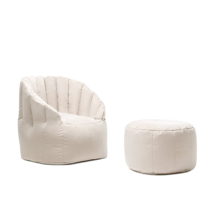 Tabouret Shell avec fauteuil de Sitting Bull