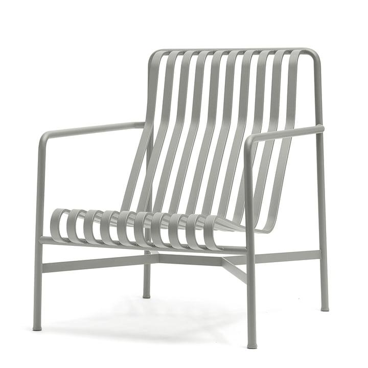 La Lounge Chair High Palissade de Hay en gris gris clair