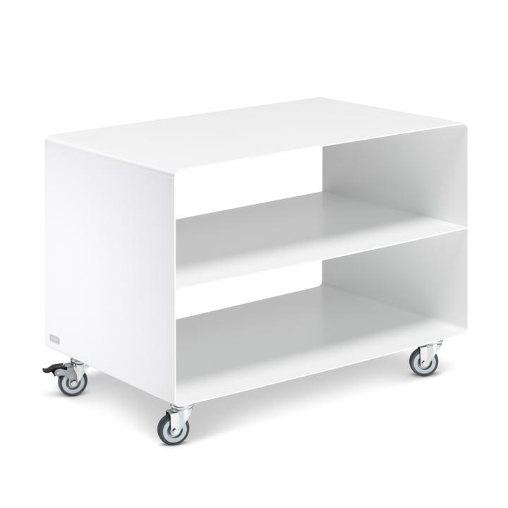 Chariot R 103N avec base centrale de Müller Furniture Manufacturing en blanc de signal satiné mat (RAL 9003)