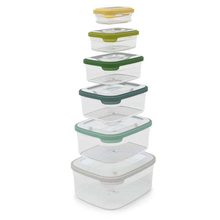 NestStorage 6pièces Set de boîtes de rangement de Joseph Joseph en opale