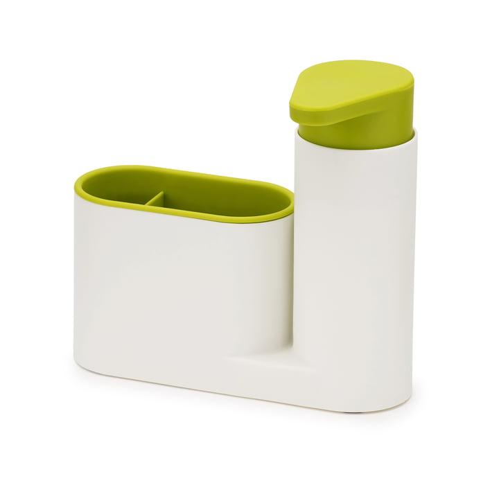Set de nettoyage d'évier SinkBase en deuxparties de Joseph Joseph en blanc et vert
