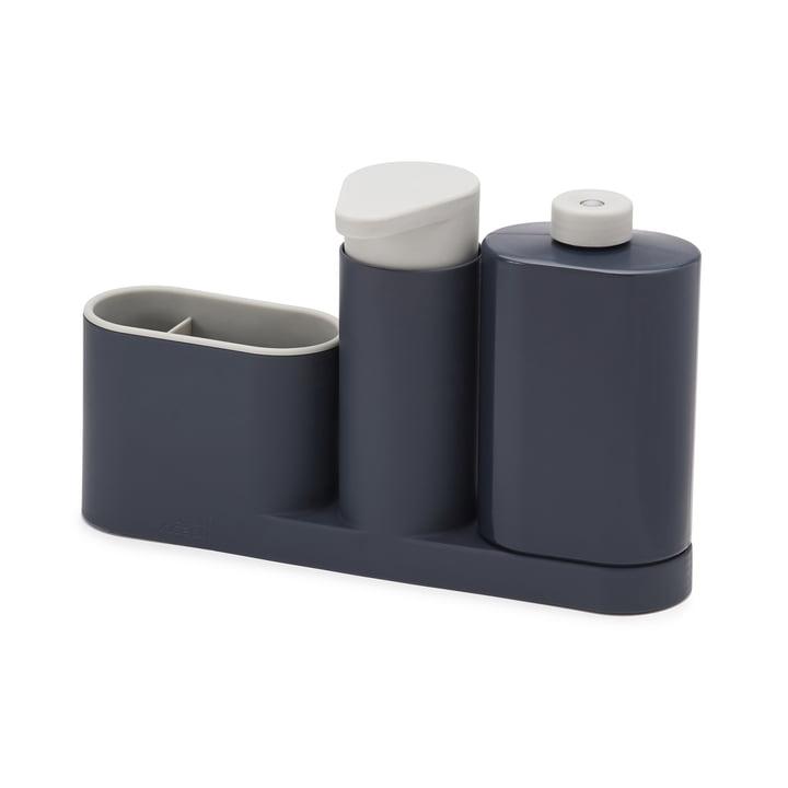 Set de nettoyage d'évier SinkBase Plus en trois parties de Joseph Joseph en gris