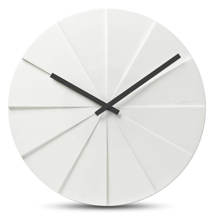 Leff amsterdam - Scope45 Horloge murale, blanc avec aiguilles noires