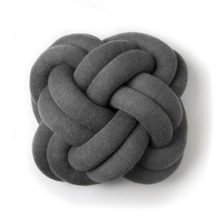 Coussin Knot de Design House Stockholm en gris