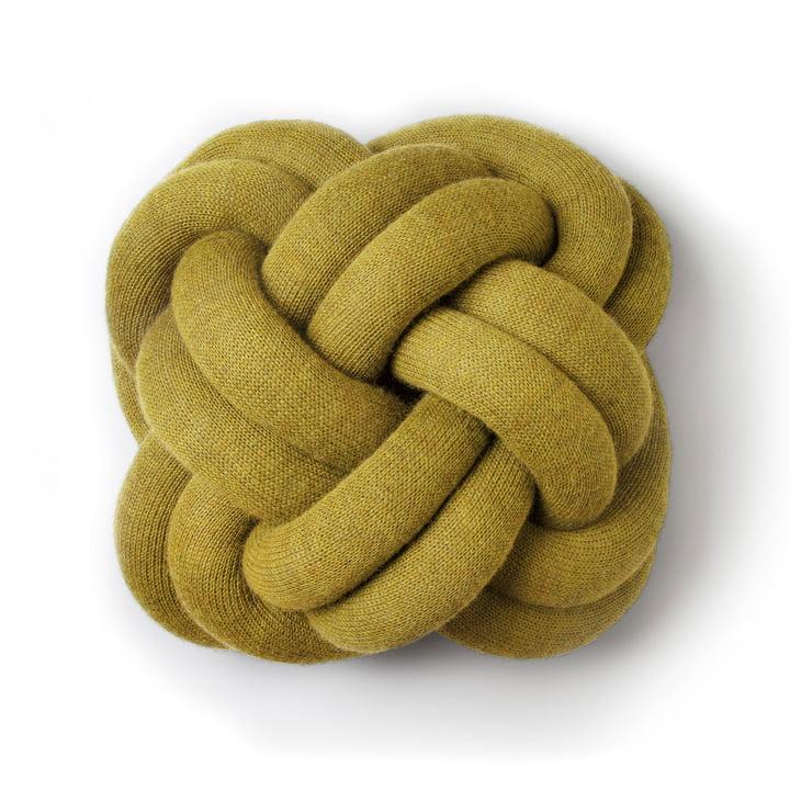Coussin Knot de Design House Stockholm en jaune