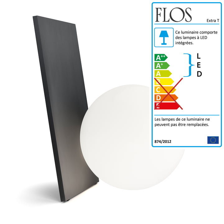 La Lampe de table Extra T en graphite anodisé de Flos