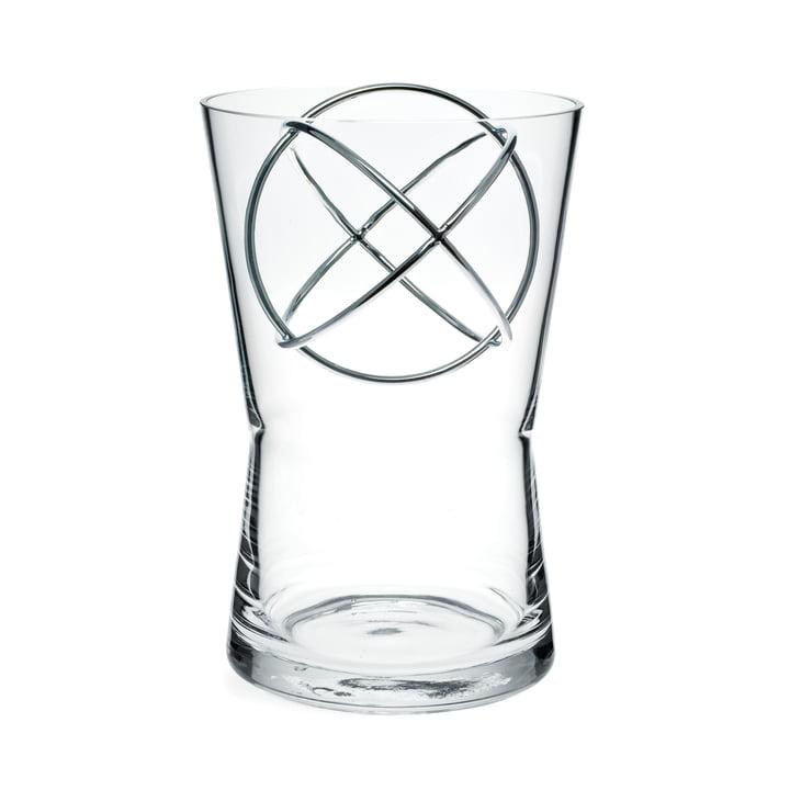 Vase Sphere moyen de Born in Sweden en acier inoxydable