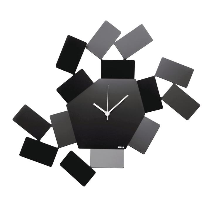 Horloge murale La Stanza Dello Scirocco par Alessi en noir