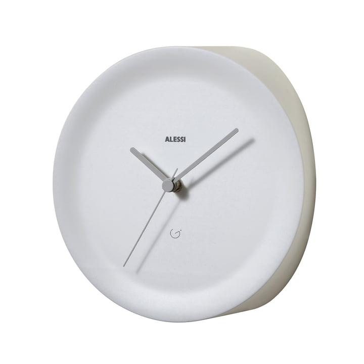 Horloge d'angle Ora In par Alessi en blanc