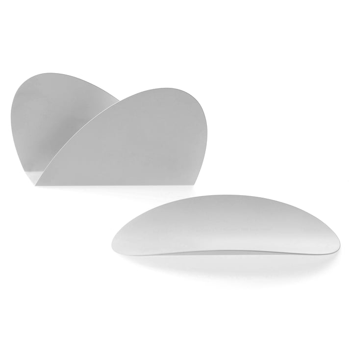 Set de bureau Ellipse par Alessi en blanc