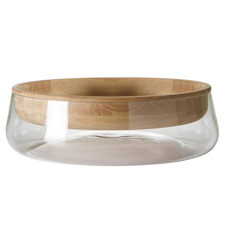 Peruse - Double Bowl, grand modèle, chêne huilé/verre clair