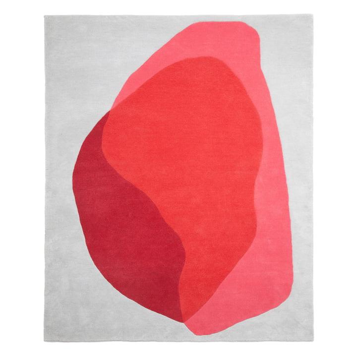 Tapis Jane de Hartô en rouge et rose caméo
