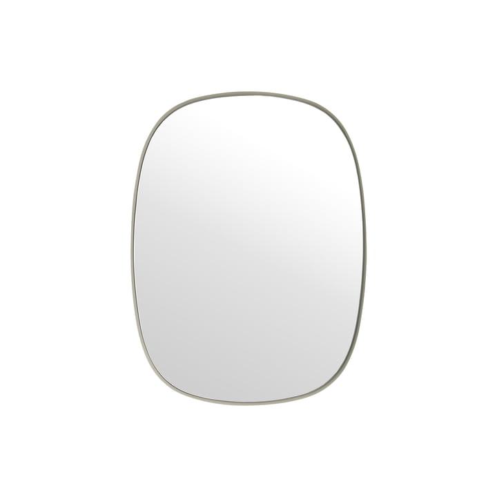 Le Framed miroir, petit en gris / verre clair de Muuto