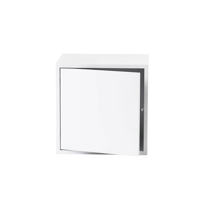 Le module d'étagère Stacked avec porte de Muuto en médium, blanc