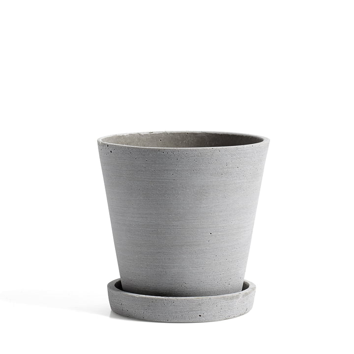 Hay - Pot de fleurs avec soucoupe M, gris