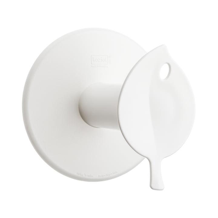Dérouleur de papier toilette Sense de Koziol en blanc