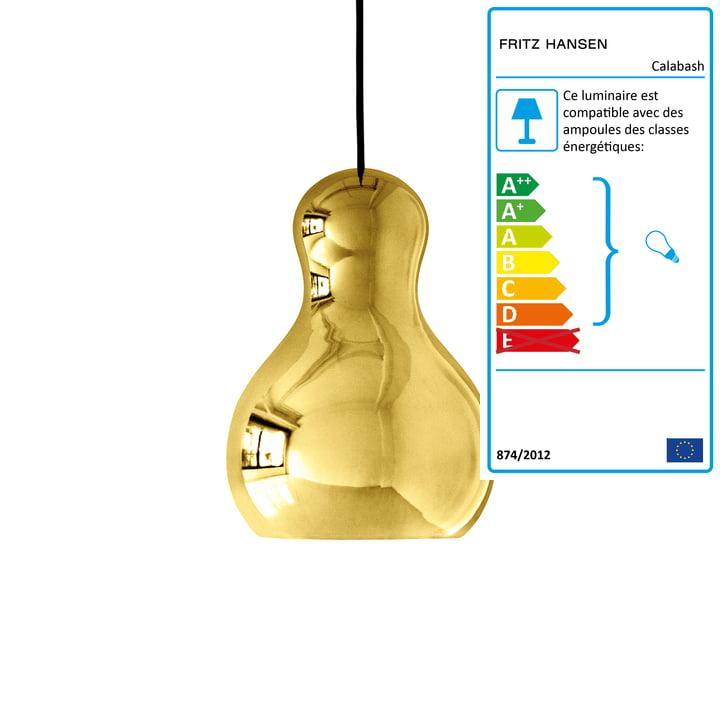 Pendentif en calebasse P2 de Fritz Hansen en or