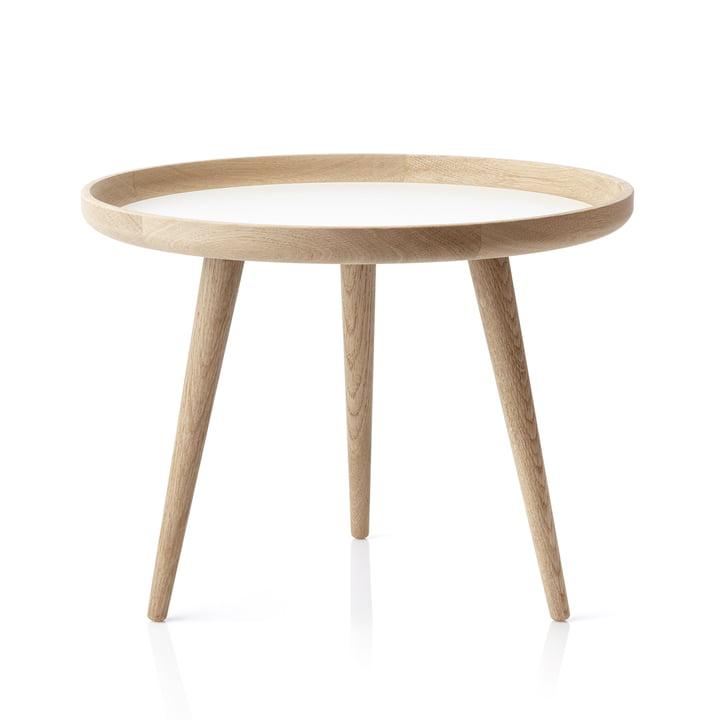 Table applicata Ø 69 cm, chêne/stratifié blanc