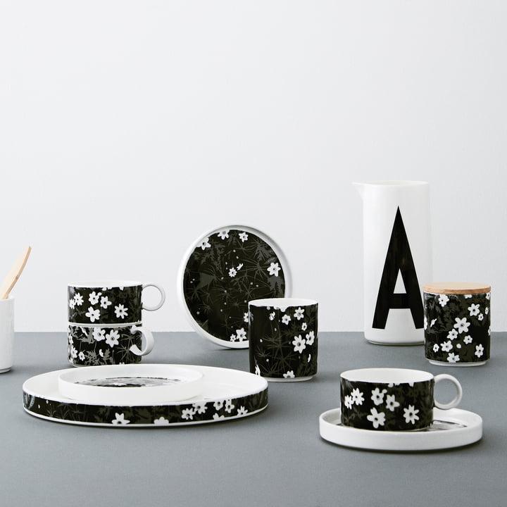 Collection en porcelaine AJ Vintage Flowers de Design Letters