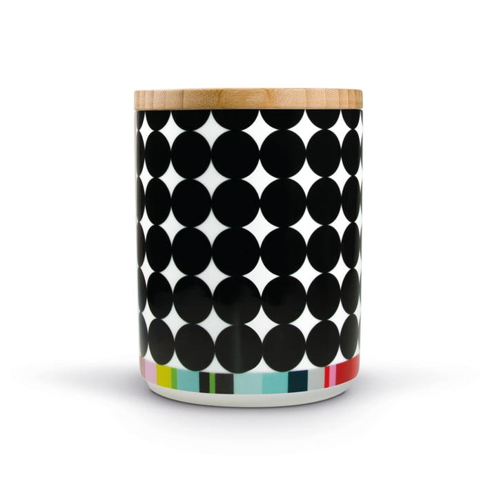 Boîte en porcelaine Scoop avec couvercle en bois de Remember