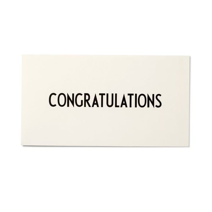 Design Letters - Carte de vœux AJ, Congratulations