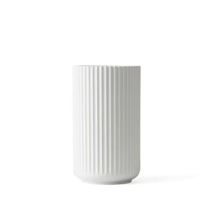 Lyngby Porcelæn - Vase Lyngby, blanc mat, h12cm