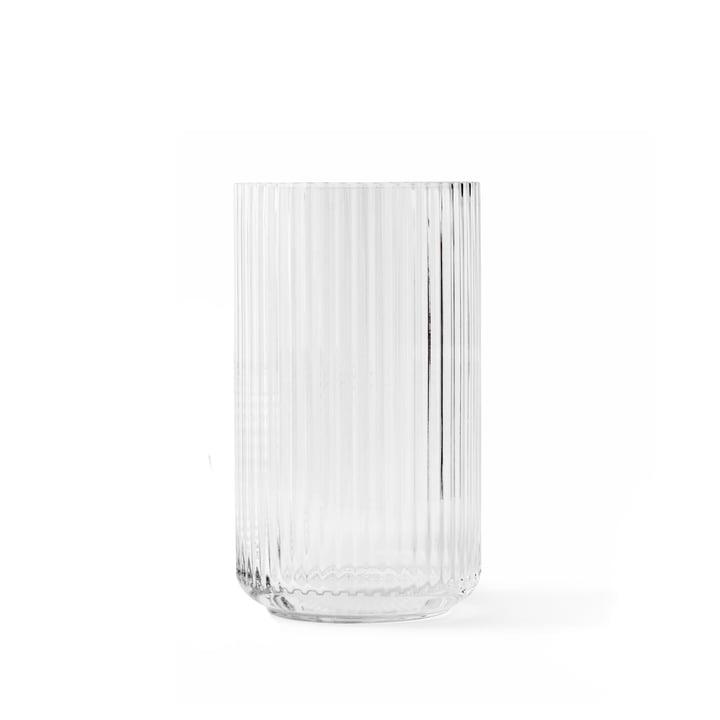 Vase en verre H 15,5 cm de Lyngby Porcelæn en transparent