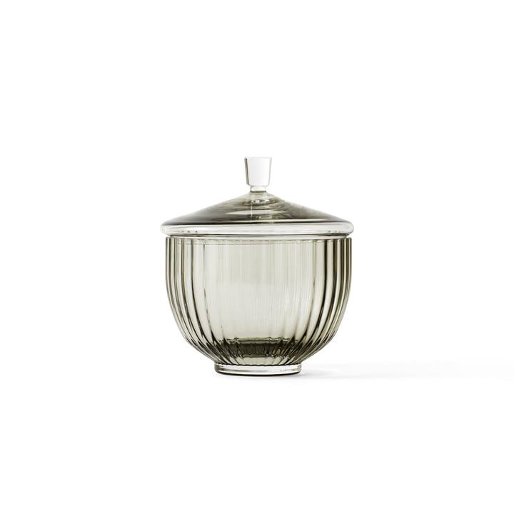 Bonbonnière en verre transparent ø 10 cm de Lyngby Porcelæn