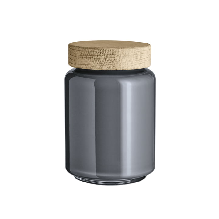 Holmegaard - Bocal avec couvercle Palet, gris foncé, 0,7 l.