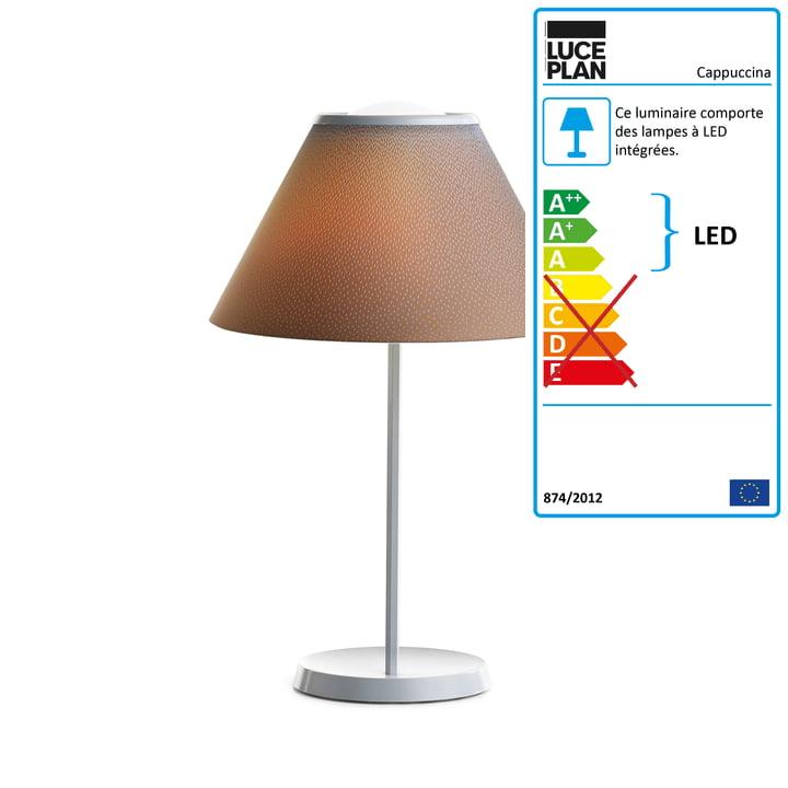 Lampe de table Cappuccina de Luceplan en marron