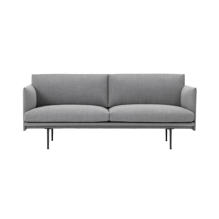 Canapé Outline 2 places par Muuto en gris