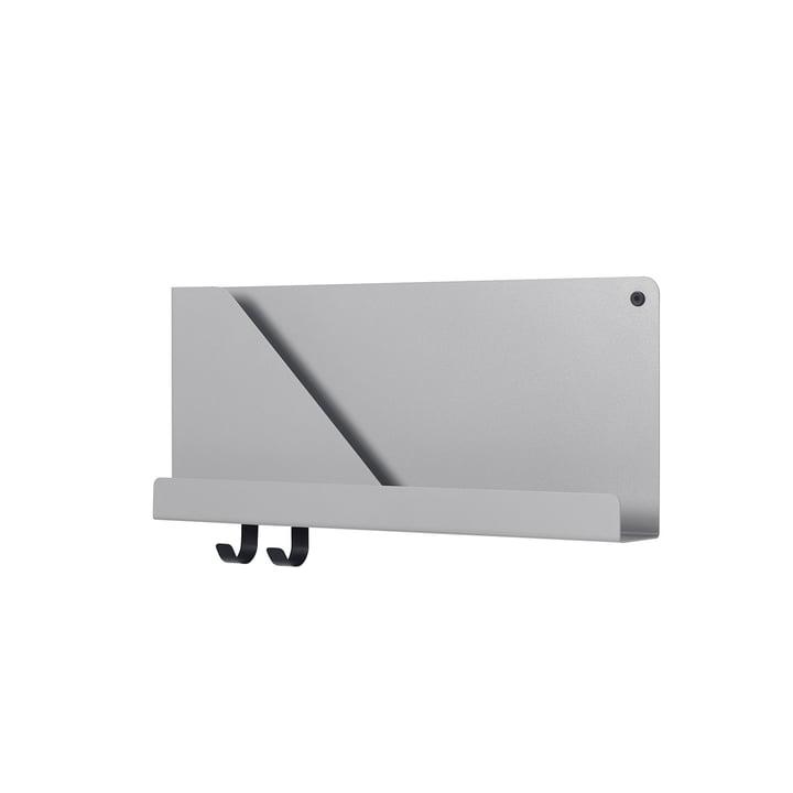 Petite étagère pliée 51 x 22 cm de Muuto en gris