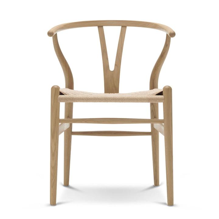 CH24 Wishbone Chair Carl Hansen en chêne savonné / osier naturel