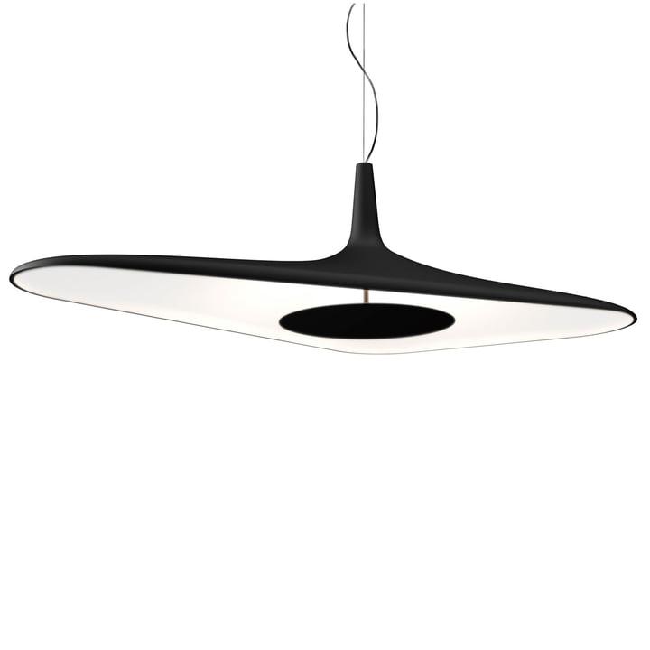 Luceplan - Suspension Soleil Noir, en noir et blanc.