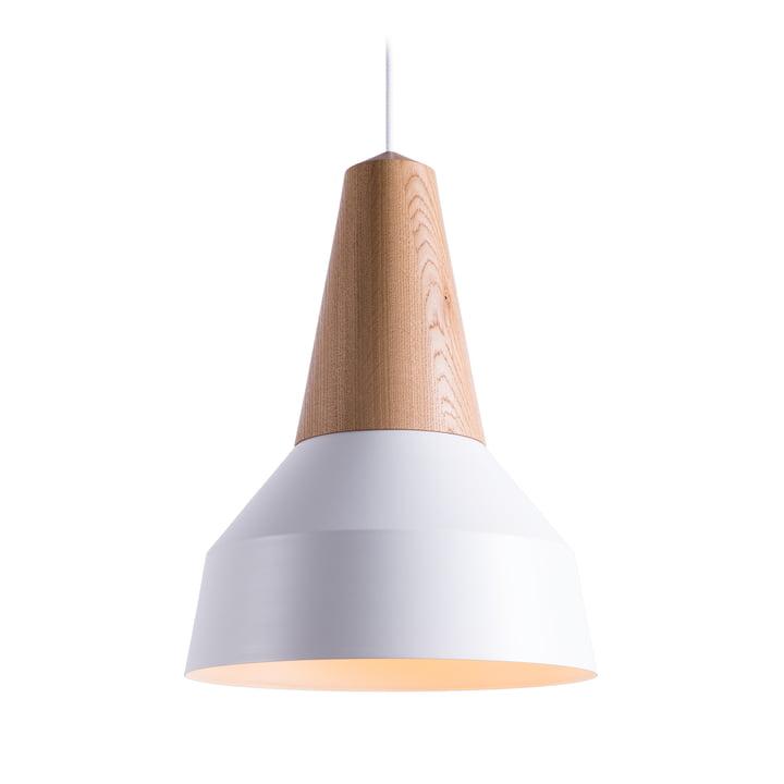 Schneid - Suspension lumineuse Eikon Basic en chêne/blanc