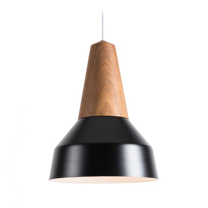 La suspension lumineuse Eikon Basic de Schneid en noyer/noir