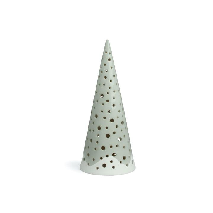 Nobili Cône de bougie à chauffe-plat 18 cm de Kähler Design en gris acier