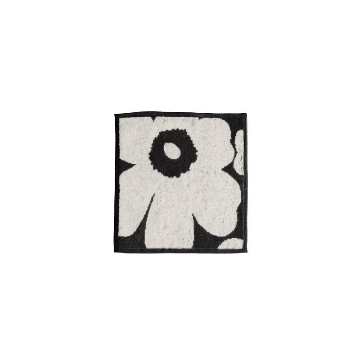 Marimekko - Serviette d'invité Unikko 25x25cm, noir/sable