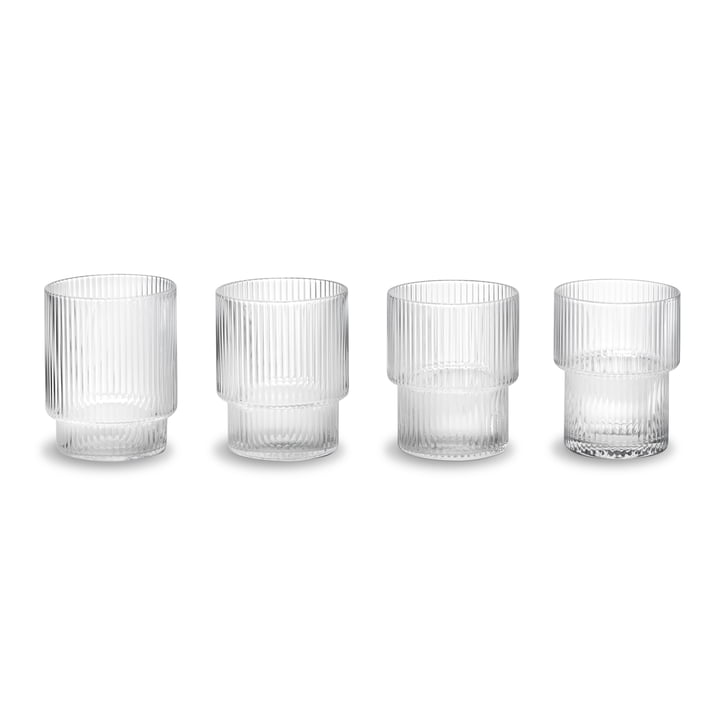 Verres Ripple (lot de 4) de ferm Living