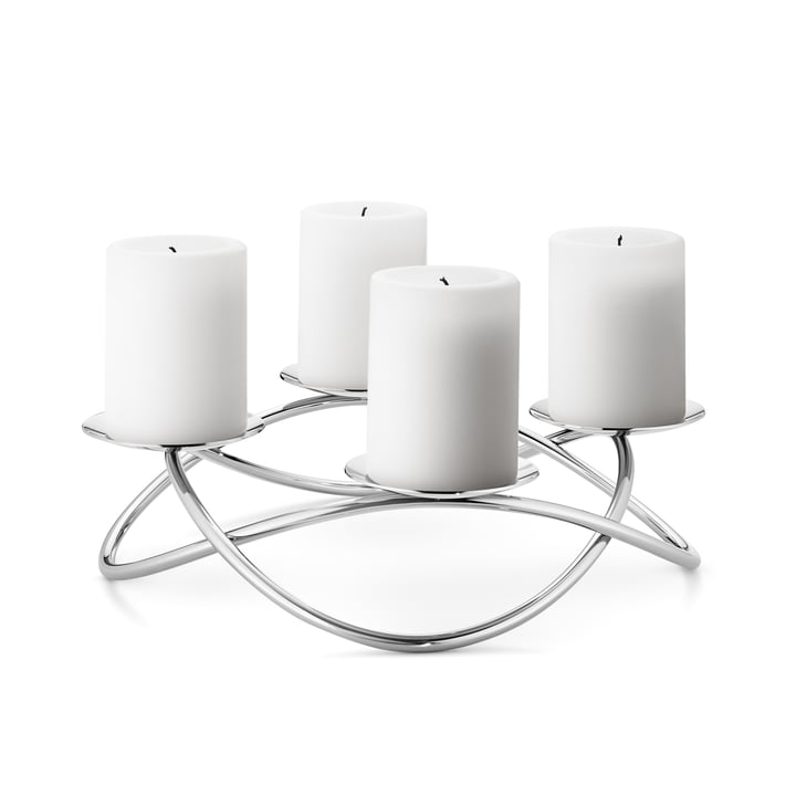 Le bougeoir Season Grand par Georg Jensen en acier inoxydable