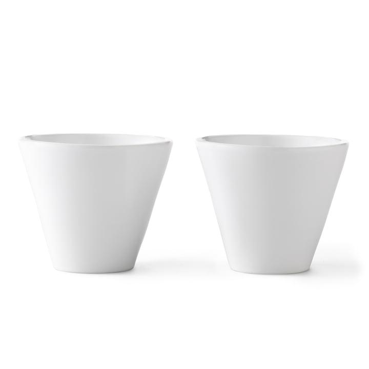 Tasses Norli (2pièces) en grand format de by Lassen en blanc