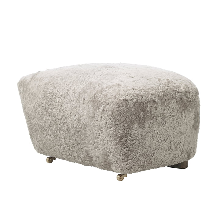 Ottoman The Tired Man par by Lassen en peau de mouton
