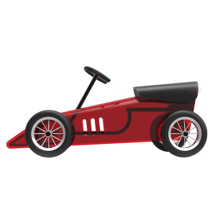La voiture à roulettes Discovolante de Kartell en rouge