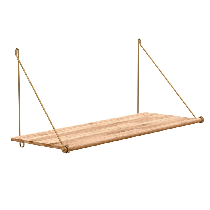Loop Shelf de We Do Wood en bambou et laiton